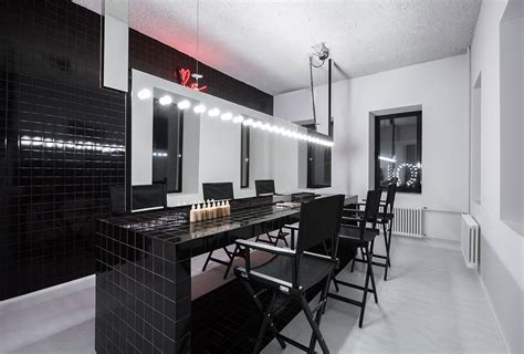 Minimalist Architects krygina make up studio in moscow by archiproba studios