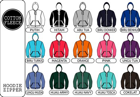 Jaket Zipper Polos Pilih Warna Kombibasi warna sablon kaos manual berkualitas