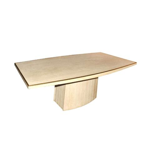 travertine dining room table jean charles travertine dining table at 1stdibs