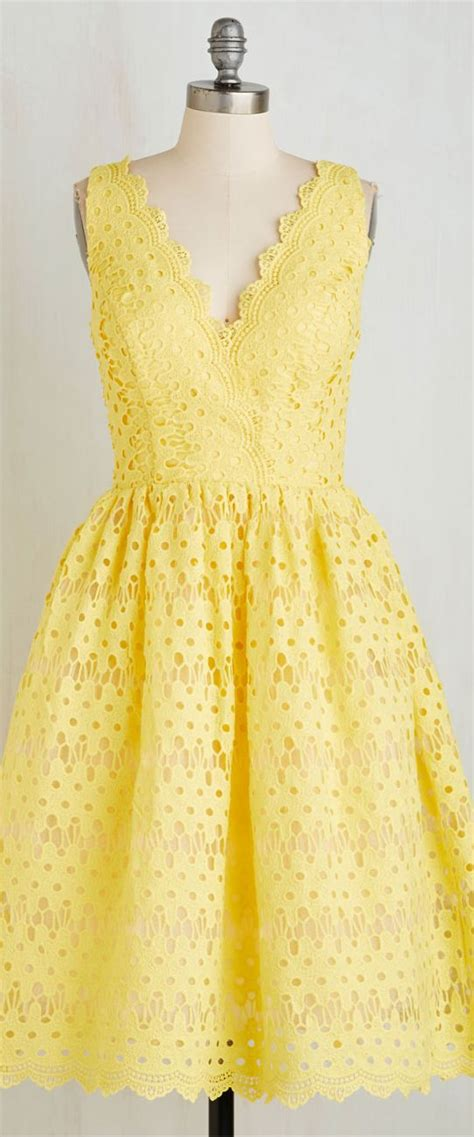I See You Eyelet by Yellow Eyelet Dress That Dress Yes