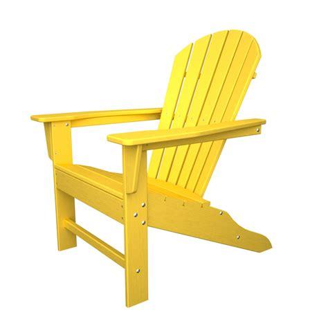 Black Resin Patio Chairs Polywood South Beach Adirondack Chair