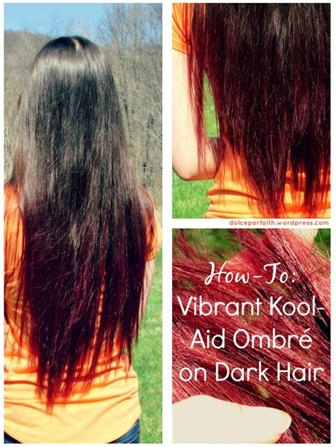 how will black cherry hair dye come out witj red hair 15 best images about koolaid hair dye on pinterest