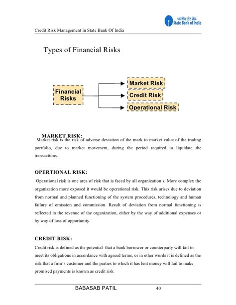 Project Report On Sbi Insurance For Mba Finance by Credit Risk Sbi Project Report Mba Finance
