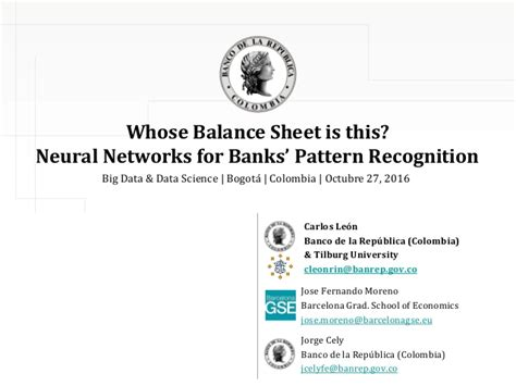 pattern recognition slideshare whose balance sheet is this neural networks for banks