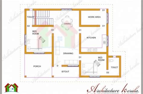 floor plan and elevation of 2203 square feet 205 square two bedroom house plan with elevation house floor plans
