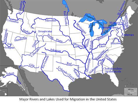 river maps of usa rivers and lakes used as migration routes history