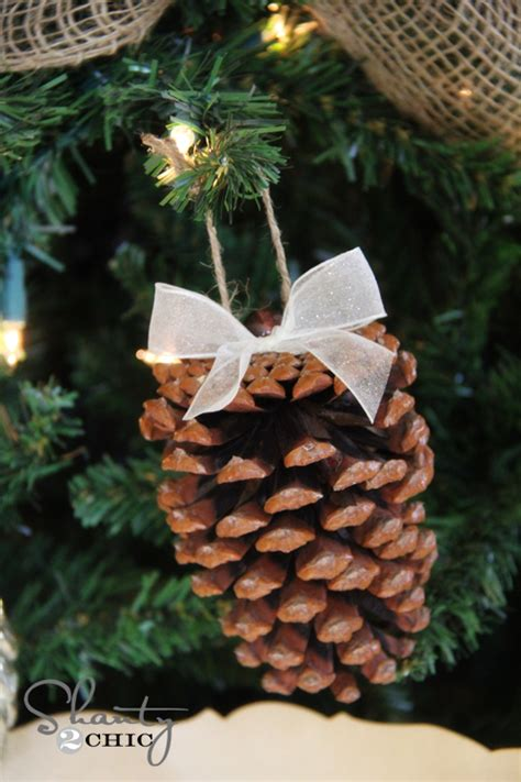 christmas ornaments bronze pinecones diy pinecone ornaments my tree shanty 2 chic
