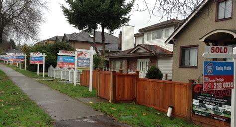 vancouver housing market vancouver housing market freezes up sales crash prices sag for sale signs