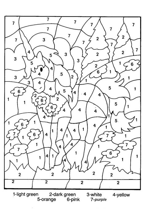 Number Coloring Pages For Printable free printable color by number coloring pages best