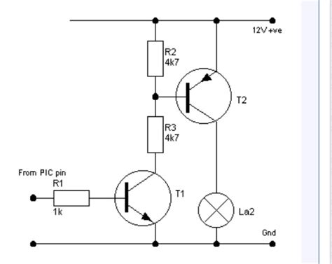 transistor led driver schematic high side transistor switch with 9v led driver electrical engineering stack exchange