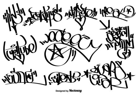 lettere tag graffiti vector graffiti tags gratis vectorkunst en