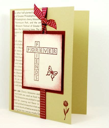 Handmade Friendship Day Cards - friends forever on this handmade friendship greeting card