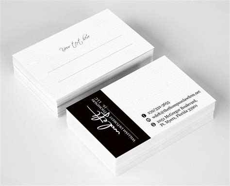 design name card upmarket elegant name card design for william deforest