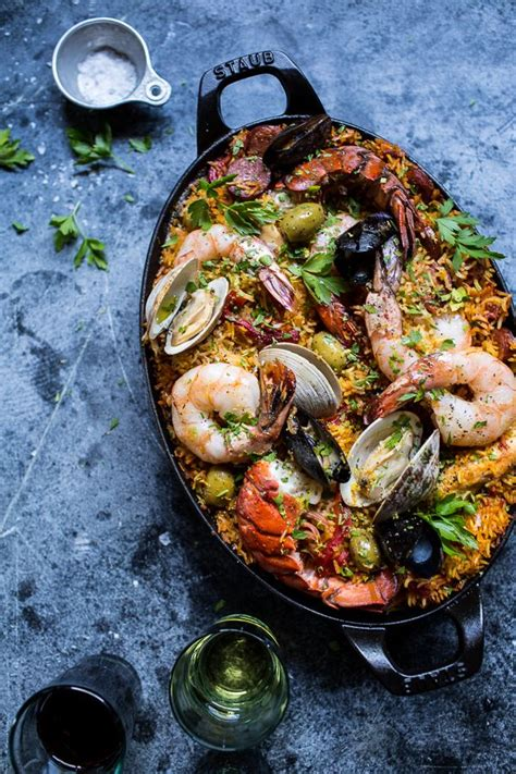 paella house dinner party inspiration seafood paella the entertaining house