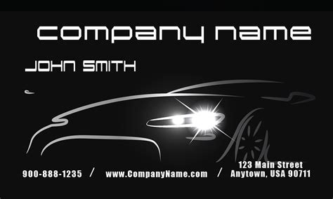 car sales business card template automotive and car shop business cards