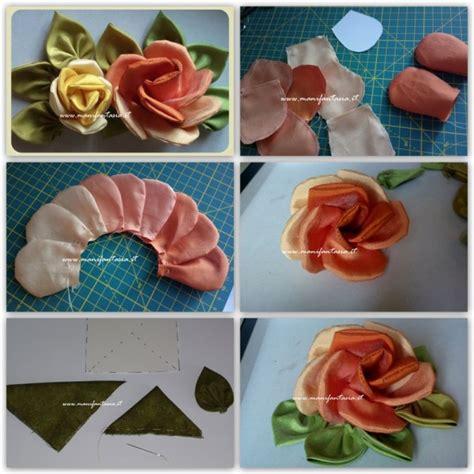 come creare fiori in stoffa di stoffa fai da te tutorial manifantasia