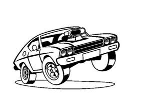 dibujo coche muscle car colorear dibujos net