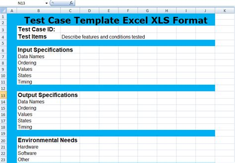 test case template excel hrftools how to import test