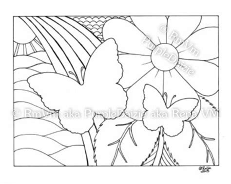 butterfly rainbow coloring page items similar to butterfly rainbow love printable spring