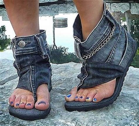 diy denim shoes how to recycle cool recycled denim sandal boots diy