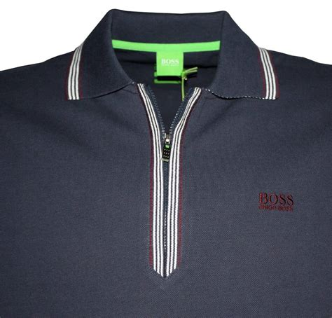 Ziper Polos hugo navy philson half zipper polo shirt polo