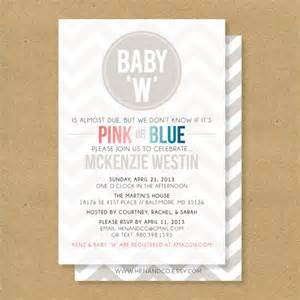 baby shower invitation gender neutral boy or by henandco
