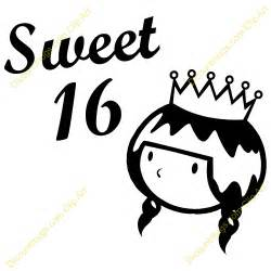 Sweet 16 Clipart sweet 16th princess clipart