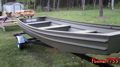 10ft flat bottom aluminum jon boat jon boat project finished vlog youtube