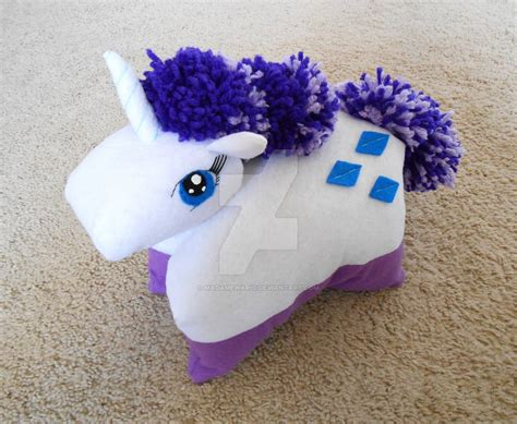 Pony Pillow by Pony Rarity Pillow Pet By Madamewario On Deviantart