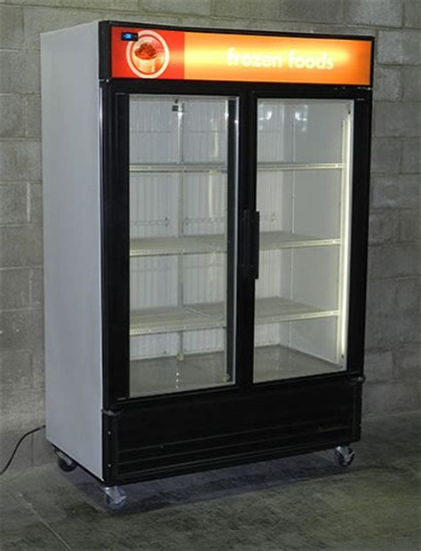 used glass door freezer used commercial freezers two door three door display