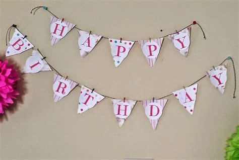 happy birthday banner diy printable diy happy birthday banner three kids and a fish