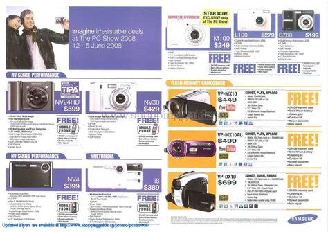 pc themes singapore price list samsung camcorder camera shoppingguide sg pcshow08 140 pc
