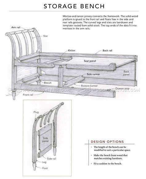 storage bench plans storage bench plans woodarchivist