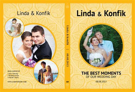 Wedding DVD Cover & CD Label v07 ~ Stationery Templates