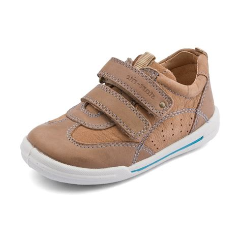 flexy soft air brown leather boys shoe