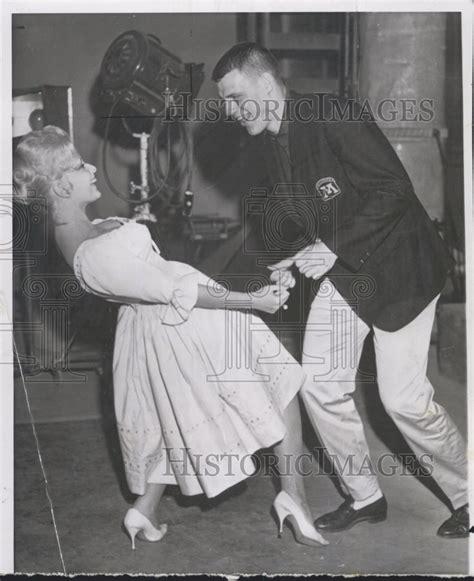 hyundai commercial actress football dance 1961 press photo minnesota quarterback paul ramseth