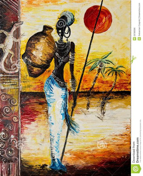 african american art themes details of african woman painting stock photo image of