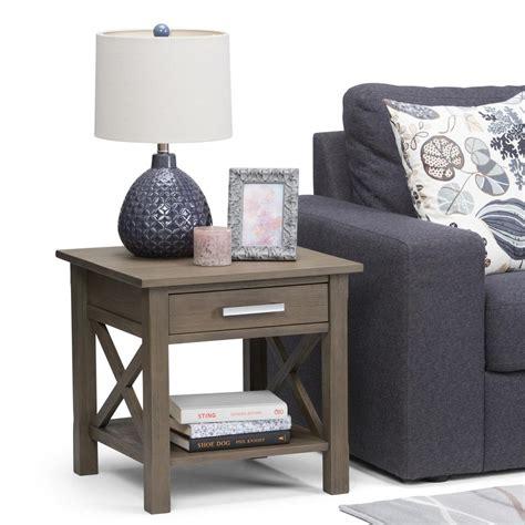 simpli home monroe end table monroe square coffee table distressed charcoal brown