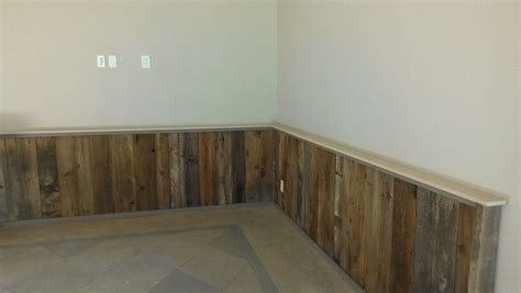 our reclaimed wood wainscotting turned out great potholes property pinterest wainscoting
