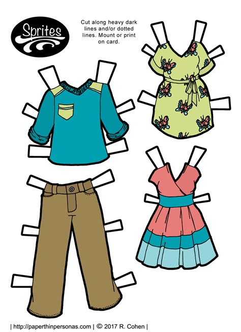 How To Make Paper Dolls And Clothes - paper thin personas daily diverse and dynamic printable