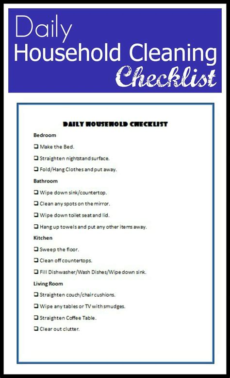 household essentials list household items checklist household items checklist