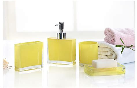 Bathroom Accessories Yellow Yellow Bathroom Accessories Sets