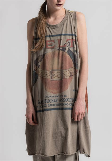 Print Sleeveless Tunic rundholz cotton print sleeveless tunic in desert santa