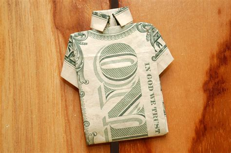 Dollar Bill Origami Shirt - how to spend a tax refund wisely 12 steps with pictures