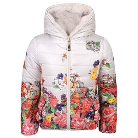 Rsby 494 Hodie Jacket Pink Print monnalisa ivory reversible puffer jacket with floral