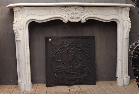 Fireplace Mantel Pieces by An Important 18th C Rococo Carrara Marble