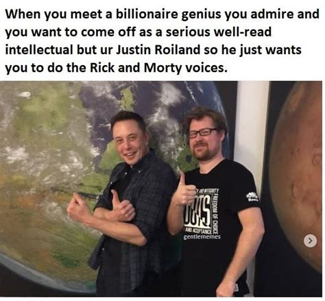 elon musk justin roiland rick and morty meme justin with elon musk on bingememe