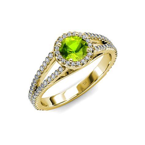 Peridot Engagement Rings by Peridot Vs2 Si1 F G Halo Engagement Ring 1 58