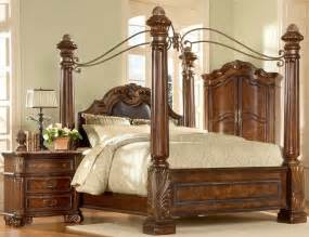 Large Canopy Bedroom Sets Big Post Bed King Size Canopy Bed Ebay