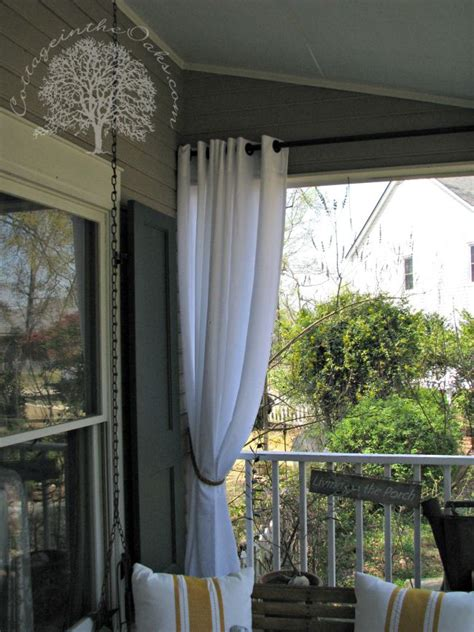 how to make patio curtains porch curtains
